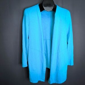 Chicos Cardigan Top Size 0 Small Blue Womens